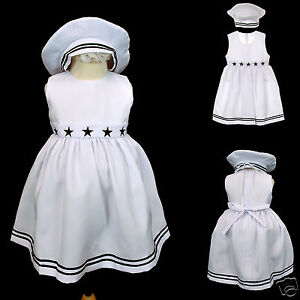 New-Baby-Girl-Toddler-Easter-Formal-Sailor-Dress-Outfits-sz-S-M-L-XL-2T-3T-4T