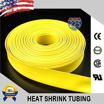 25 Ft. 25 Feet Yellow 516 8mm Polyolefin 21 Heat Shrink Tubing Tube Cable Us