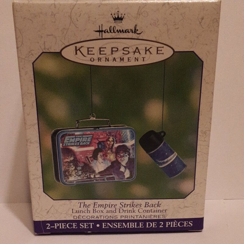 2001 HALLMARK ORNAMENT - THE EMPIRE STRIKES BACK LUNCH BOX & DRINK CONTAINER NEW