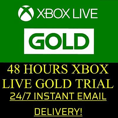 XBOX LIVE 48 HOUR 2 DAYS GOLD TRIAL CODE 48HR - INSTANT EMAIL DELIVERY for sale  Amsterdam