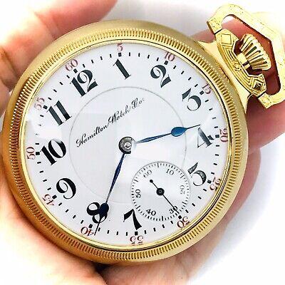 Amazing 1901 Hamilton 941 18S 21J Salesman Railroad Pocket Watch Run Good