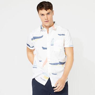 Nautica Mens Classic Fit Nautical Boat Printed Shirt