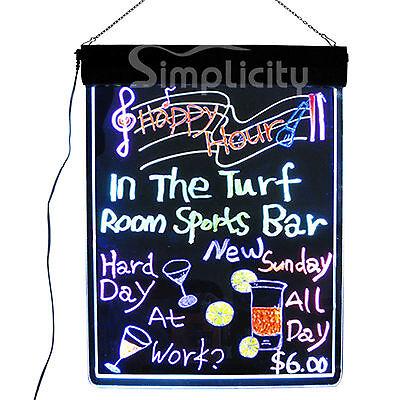 "Flashing Illuminated Erasable Neon LED Message Writing Board Menu Sign 32""x24"""