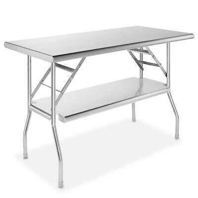 Gridmann Stainless Steel Folding Table 48 X 24 Inch Kitchen Prep Work Table Wi