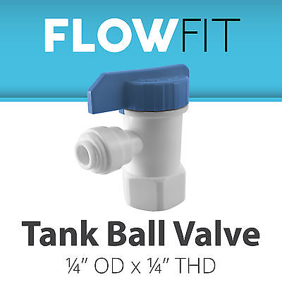 """Express Water 1/4"""" Tank Ball Valve Quick Connect Parts Water"""