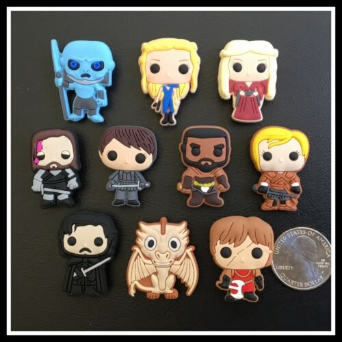 10 Shoe Charms for Crocs GAME OF THRONES Daenerys Stark Tyrion Canon Dragon GOT
