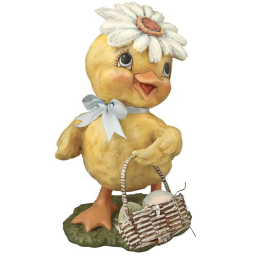 Easter Bethany Lowe Springtime Flower Chick Daisy Duck Retro Vntg Decor Figurine