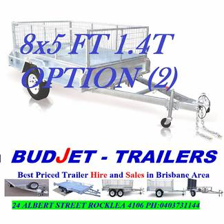 TRAILER HIRE BRISBANE 8 x 5 FT 1.4T CAGED BOX FROM $55 P/D
