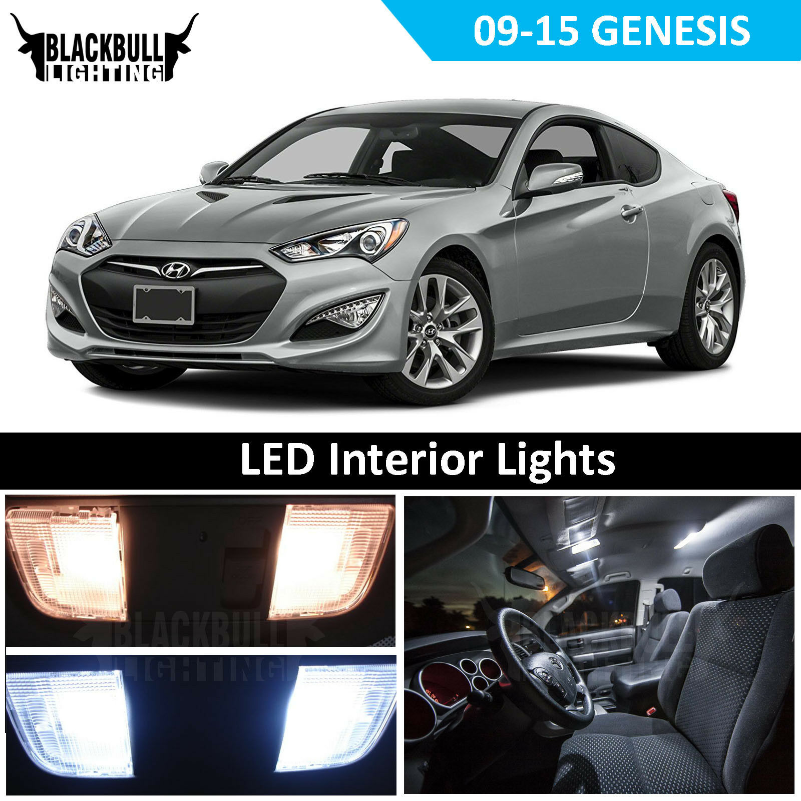 Details About White Led Interior Light Replacement Kit For 2010 2016 Hyundai Genesis Coupe
