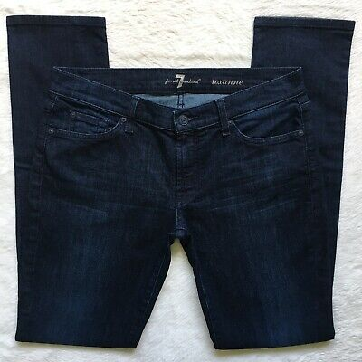7 For All Mankind Roxanne Skinny Dark DRYL Wash Low Rise Stretch Jeans Size 31 7 For All Mankind Jeans Roxanne