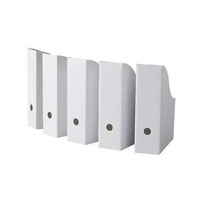 Ikea Flyt Magazine File Pack Of 10 White 90 Recycled Paper Corrugated Cardboard