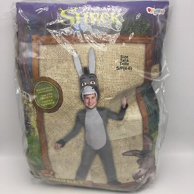 Shrek Donkey Deluxe Halloween Costume Disguise Child Small 4-6 Dreamworks New - Shrek Donkey Halloween Costume