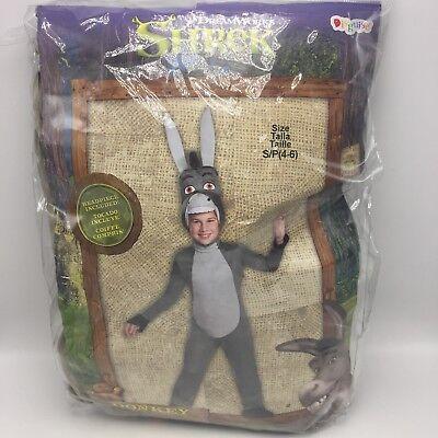 Shrek Donkey Deluxe Halloween Costume Disguise Child Small 4-6 Dreamworks New