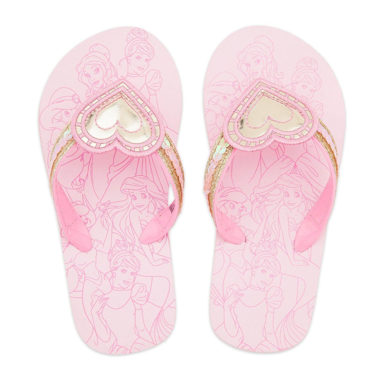 Toddler or Child Disney Store Princess Flip Flops Size 7/8 9