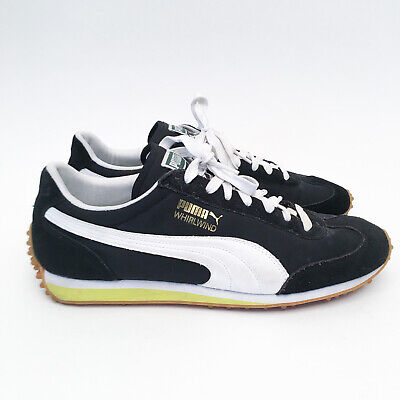 Puma Whirlwind Classic Sneakers 351293-90 Black Shoes Retro Trainer Sz US 10