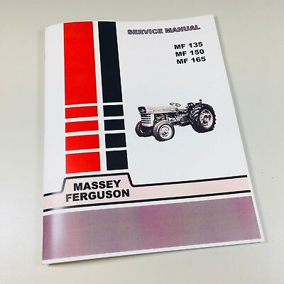 135 Massey Ferguson Tractor Technical Service Shop Repair Manual Mf135 Mf