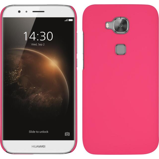 Hardcase Huawei G8 - rubberized hot pink + protective foils