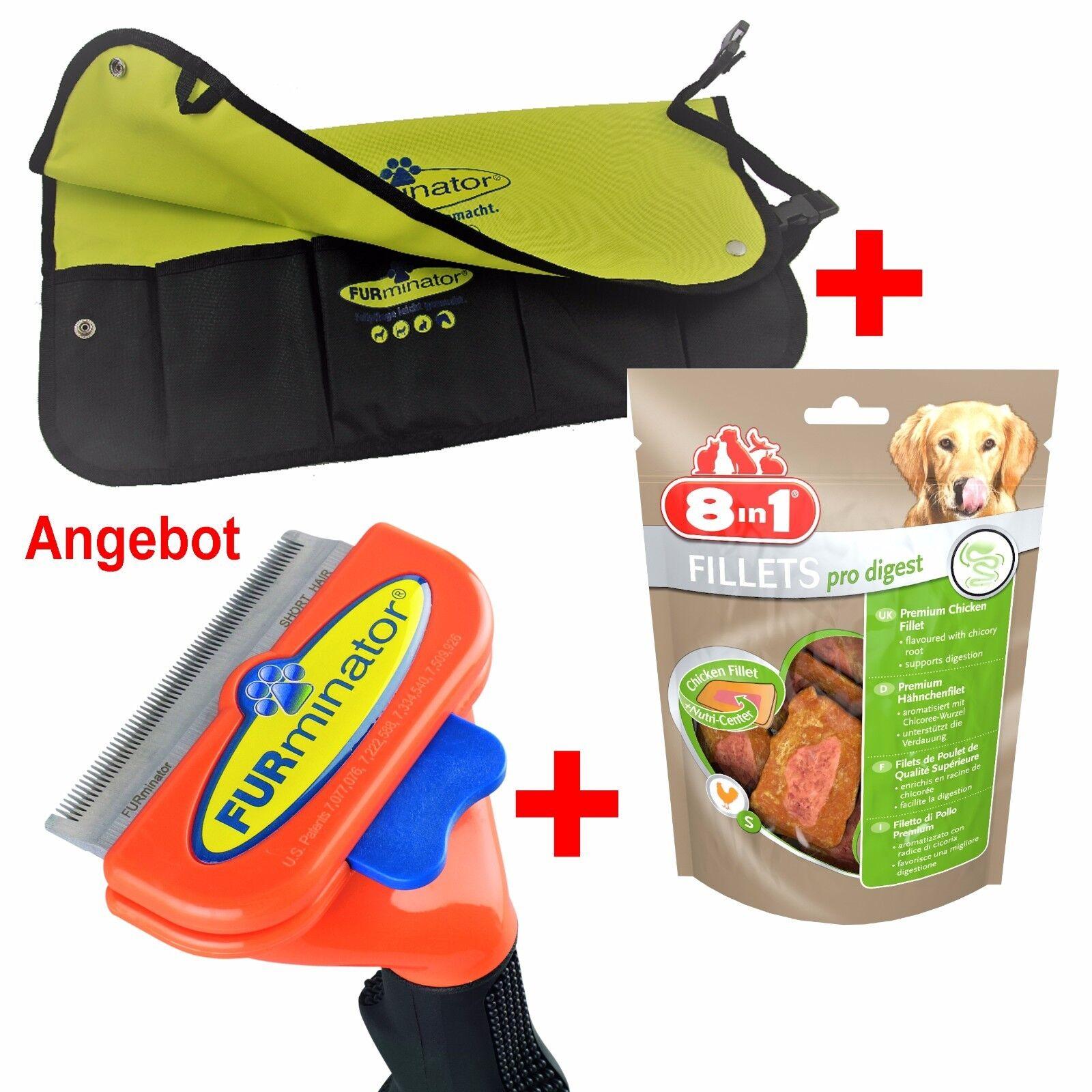 FURMINATOR M Pflegewerkzeug Hund kurzhaar 9-23kg+Gratistasche+Snack 24 Std.Vers.