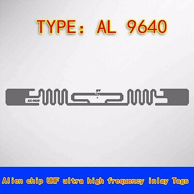 50pcs Rfid Uhf Passive Smart Label Tag Sticker Antenna Alien 9640 H3 Wholesale