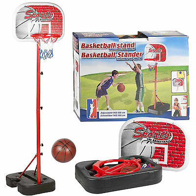 PORTABLE BASKETBALL SET HOOP BACKBOARD FREE STANDING FOR CHILDREN KIDS JUNIOR