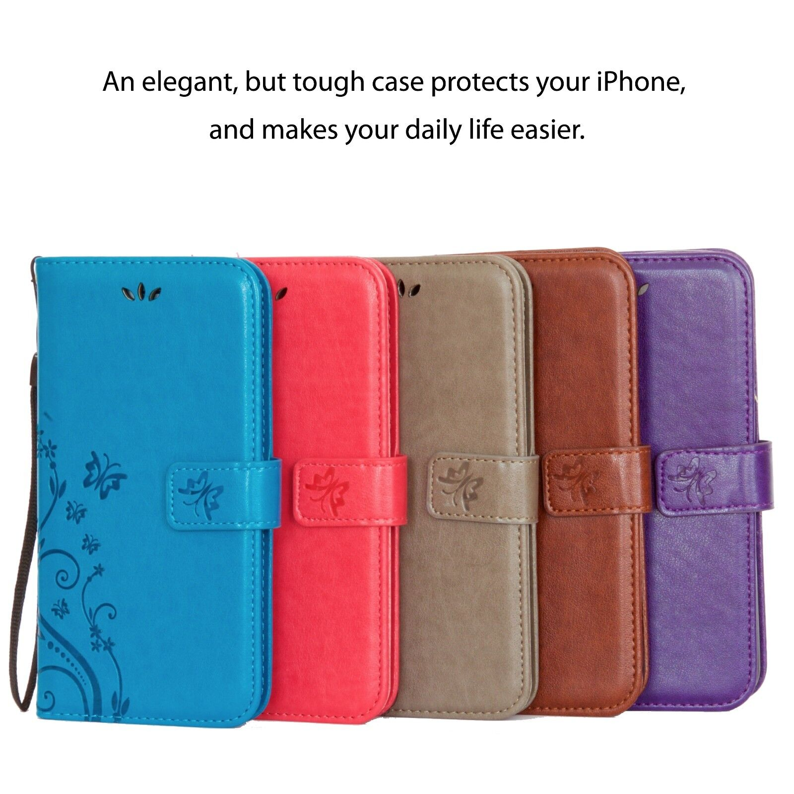 Luxury Magnetic Cover Stand Wallet Leather Case For Apple iPhone 6/6S/7/8 Plus