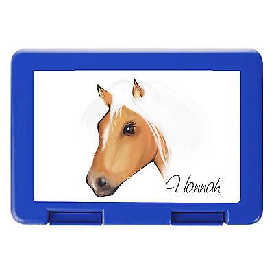 Brotdose Braunes Pferd Haflinger mit Wunschnamen von Wandtattoo-Loft® BD213