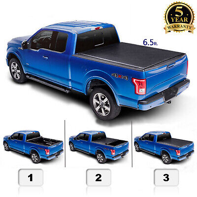 6.5' for 07-13 Silverado 1500 Sierra 1500 Roll Up Pickup Truck Bed Tonneau Cover