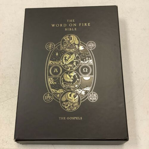The Word on Fire Bible (Volume 1) The Gospels 2020 Leather + Case/Box