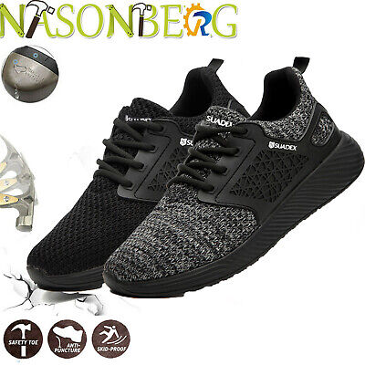 Nasonberg Mens Work Boots Safety Shoes Construction Steel Toe Cap Sneakers