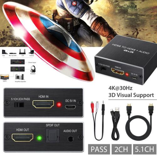 1080P HDMI Zu HDMI Optisch SPDIF+RCA R/L Audio Extractor Konverter Splitter AV