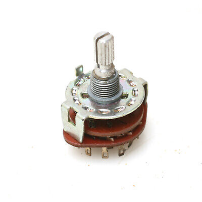 4-position 3-pole Rotary Selector Switch