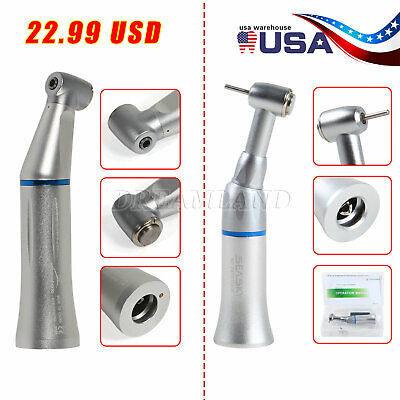 Dentist Push Button Contra Angle Handpiece Innerexter Water Spray Fg1.6mm Burs