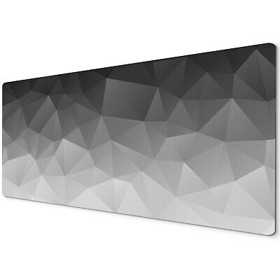90x40cm Extra Large Xxl Mouse Mat Pad Full Desk Black Grey Geometric Triangle