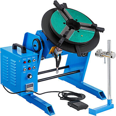 Rotary Welding Positioner 100kg Turntable Table 3 Jaw Lathe Chuck 220v