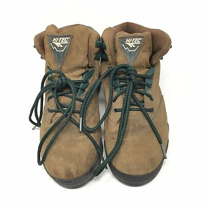Hi-Tec Hiking Boots Mens Shoes Brown Suede Laced Outdoor Athletic Trail 9 42