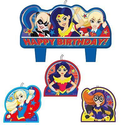 4pk Packung Dc Superheld Mädchen Kerzen Geburtstag Wonder Woman Supergirl