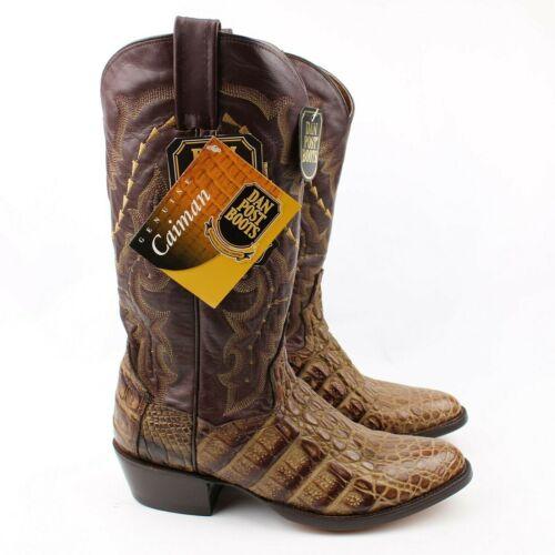 Dan, Post, Caiman, Exotic, Leather, Crocodile, Alligator, Cowboy, Boots, Handcrafted, Sz, 7