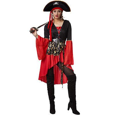 Frauenkostüm Piratenkostüm Damen Fasching Karneval Halloween Sexy Pirat Kostüm ()
