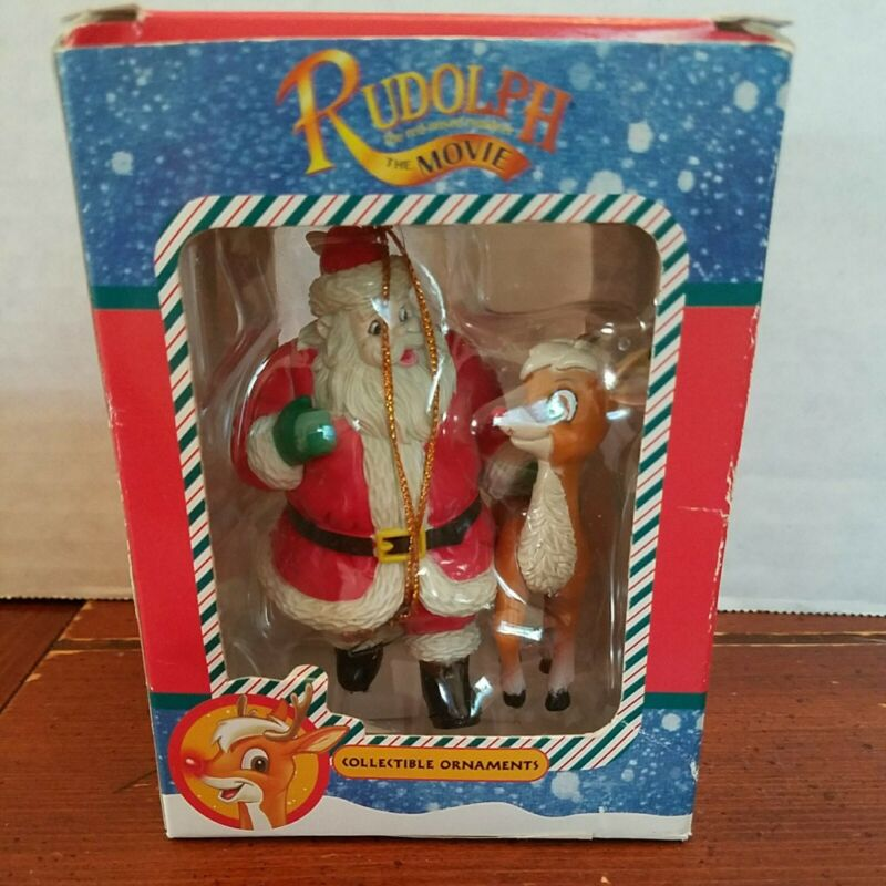 VINTAGE TREVCO RUDOLPH THE RED NOSE REINDEER   ORNAMENT 1998