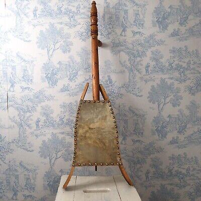 Vintage Handmade Egyptian Style Instrument Wood Leather Decorative 82cm High