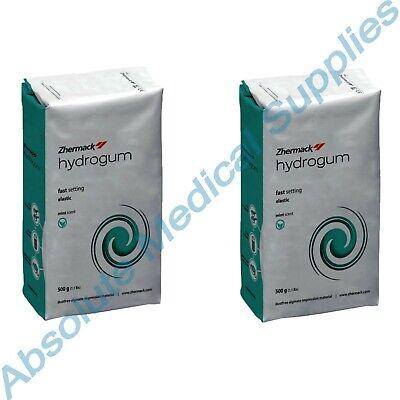 2-packs Zhermack Hydrogum Dust Free Alginate Mint Scent Green 1.1 Lbs C302025