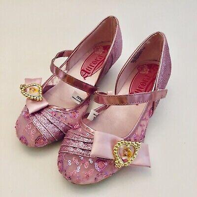 Disney Store Aurora Costume Dress Up Shoes Sleeping Beauty Pink Cameo Size 2/3 - Sleeping Beauty Dresses