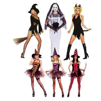 Sexy Hexe S-L Hexen Kleid Kostüm Tüll Halloween Gothik Fasching Halloween Frau ()