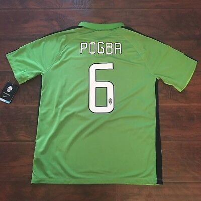 257fc50b2 2014 15 Juventus Third Jersey  6 Pogba Large Adidas football Soccer France  NEW