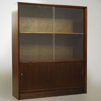 Glazed Bookcase / Sideboard (delivery £40) Herbert Gibbs 1950s Retro