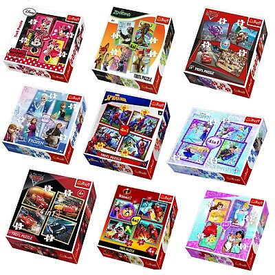Disney 4in1 Jigsaw Puzzles 35+48+54+70 Pc Boys Girls Animated Movie Characters  35 Piece Framed Puzzle