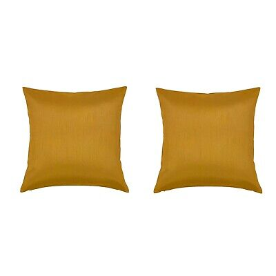 "Yellow Gold 24""x24"" Throw Couch Pillow Covers 2Pk. Decorative Christmas Decor"