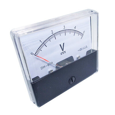Us Stock Analog Panel Volt Voltage Meter Voltmeter Gauge Dh-670 0-5v Dc