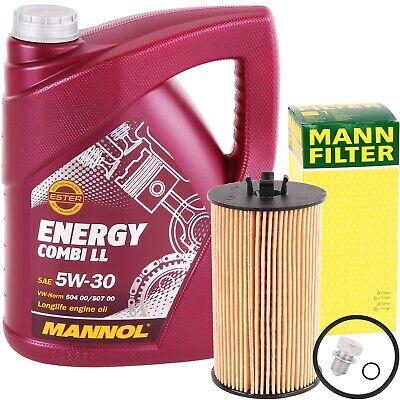 MANN-FILTER ÖLFILTER + 5 LITER MANNOL ENERGY COMBI LL 5W-30 VW 504 507.00 5W30