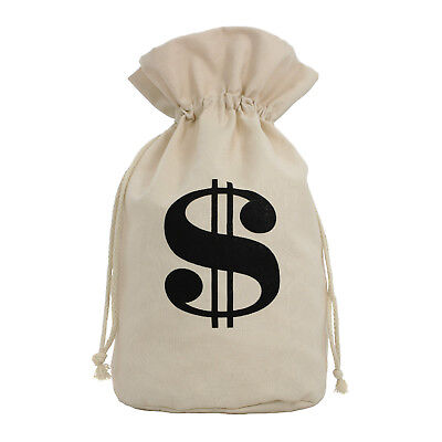 X-Large Canvas Money Bag Bank Robber Thief Western Candy Costume - Western Candy Bags